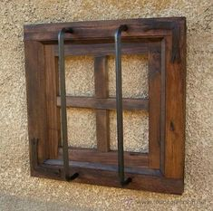 Pricing Guide of Other Vintage Objects. Sold through Direct Sale: Ventana rustica madera con rejas forjada,,, Lot 149835245 Wood Windows, Windows And Doors, Window Security, Window Grill Design, Old Doors, Woodworking Jigs, Exterior Doors, Architecture Details, Rustic Wood