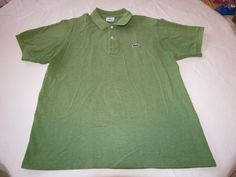 LaCoste 5 green polo knit polo shirt Men's gator 5191L RARE adult EUC @ #Lacoste #PoloRugby