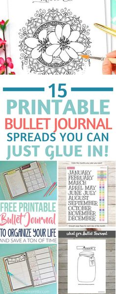Bullet Journal Printables - totally in love with these printable spreads - for when you don't have time to be creative! Especially love the FlyLady zone checklist!    ♧  18.1.6