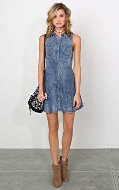 Safe Travels Chambray Dress - New Arrivals