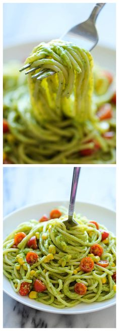 Avocado Pasta - The easiest, most unbelievably creamy avocado pasta. ** Use gluten Free Pasta