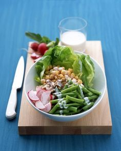 Chickpea Salad with Buttermilk Dressing -- Salad doesn't always have to be all lettucey...
