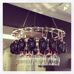 Now this is our kind of chandelier — just one more reason why we love Riedel!