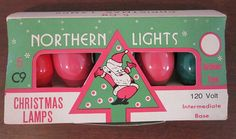 Christmas bulbs! Love the old packaging!