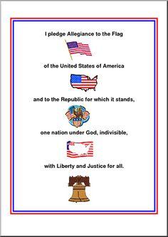 Posters: The Pledge of Allegiance #social_studies #poster @pledge