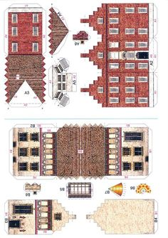 Four Old Town Houses - PaperModelKiosk.com