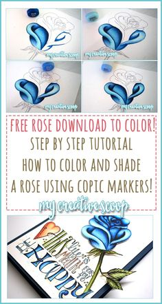how-to-shade-a-rose-with-copic-markers-pinterest