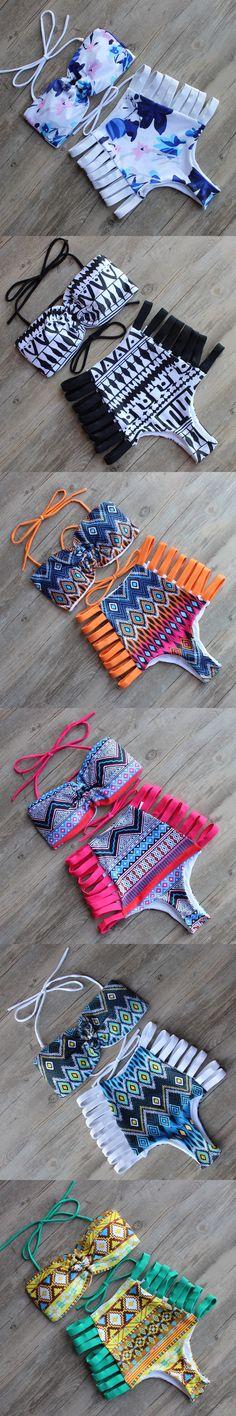 High Waist Bikini Set 2016 Bathing Suits Women Grils Swimsuit Beach Wear Trikini Bikinis Push Up Brazilian Plus Size Swimwear XL $25.84