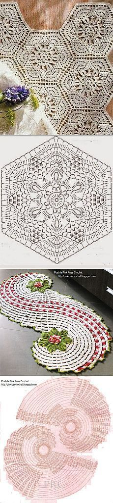 DOILY - A FAVORITE - GORGEOUS FLORAL ACCENT - FOR BEDROOM Необычные салфетки, связанные крючком — Рукоделие