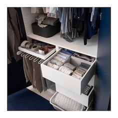 IKEA - KOMPLEMENT, Box, light gray, The box helps you organize clothes and accessories. Soft felt protects your accessories and keeps them neatly in place. You can easily customize your own storage solution by combining boxes in different sizes. Ikea Closet, Closet Storage, Closet Organization, Bathroom Closet, Storage Room, Organization Ideas, Bedroom Closet Design, Closet Designs, Bedroom Decor