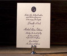 letterpress wedding invitations: Miranda designed by Maybelle Imasa-Stukuls for Bella Figura