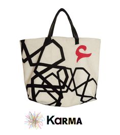 handmade khaymia (hand-sewn) tote bag with Islamic patterns.  made by Karma from Egypt