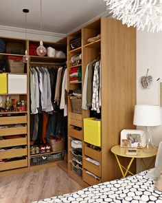 Open storage makes outfit inspiration easy