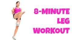 8 Minute Legs -- At Home Lower Body Workout No Equipment Thigh Exercises (perfect for travel!)
