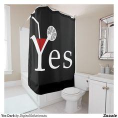 Yes Dark Shower Curtain