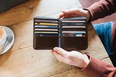 Men's Wallet with 12 credit card slots, 2 full length compartment for notes, 6 multi-purpose pockets and a handy coin pocket.