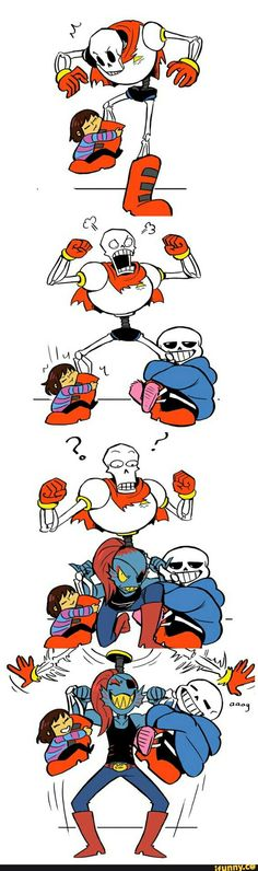 you can hear papyrus screaming sans name in the second picture XD-undertale