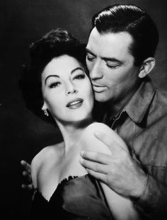 Ava & Gregory Peck in The Snows of Kilimanjaro (Henry King, 1952).