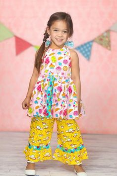 0fbd5c2ca Pink Susan Halter Top & Ruffle Pants - Infant, Toddler & Girls by Jelly the  Pug
