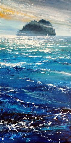 Wild Island - acrylic painting by David Williams. Giclee prints available from www.southdownsgallery.co.uk