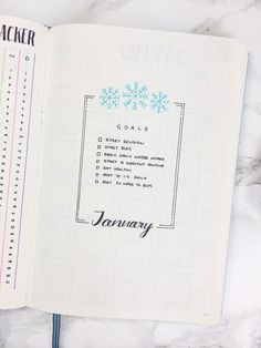 January Bullet Journal Cover Page Ideas {Get inspired!} Here are some of my favourite January bullet journal cover page ideas to inspire you to get 2019 off to a creative start! Bullet Journal Goals Page, February Bullet Journal, Goal Journal, Bullet Journal Monthly Spread, Bullet Journal Set Up, Bullet Journal Ideas Pages, Bujo, Planer, Inspiration