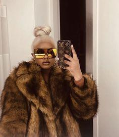Women S Fashion Dropshippers Usa Product Black Girl Fashion, Fur Fashion, Fashion Killa, Look Fashion, Winter Fashion, Fashion Outfits, Black Girls, Black Women, Lemy Beauty