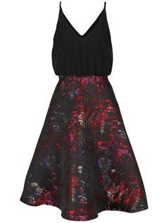Černé šaty s barevným vzorem AX Paris