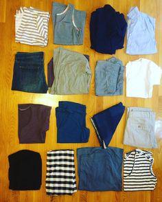 Europe extravaganza wardrobe is ready to go!! Row 1: #cabernetcardigan #eucalypttank #outandaboutdress and RTW buttondown Row 2: RTW jeans #driftlesscardigan #hudsonpants #plantainteeshirt  Row 3: #plantainteeshirt #elisetee doublegauze scarf RTW striped khakis Row 4: #hudsonpants jersey cowl #mandyboattee #elisetee  16 items (not counting pjs and undergarments) and 13 are handmade!  #makersgonnamake #imakemyclothes #handmadewardrobe #matchandgbugzdoeurope by match_makes