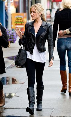 Kristin Cavallari need her leather jacket