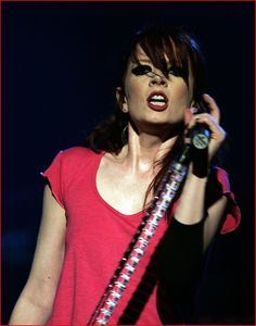 Shirley Manson, Garbage  My fav singer and band, when I listen to them, I get wet...
