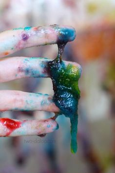 Make this taste-safe slime paint for an ooey gooey process art and sensory experience that your kids will never forget!