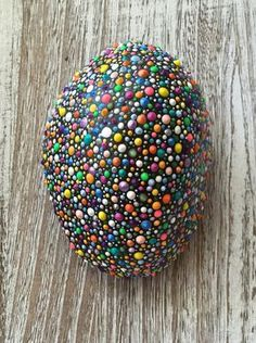 Fun, colorful rock to brighten your home or garden.