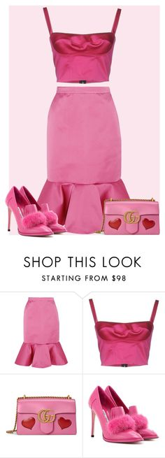 """Barbie"" by seventeene ❤ liked on Polyvore featuring J.Crew, Gucci and Jimmy Choo"