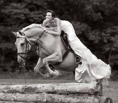 Awesome photo in what I assume is a wedding dress?