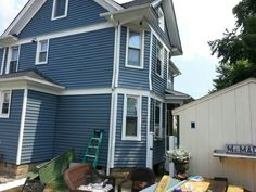 Home Victoria Harbour Ontario Colour Cobalt Blue Cottage