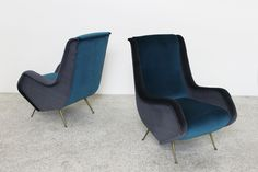 Pair of armchairs Aldo Morbelli#Isa# Italy#50's #nerodesignarezzo#design#
