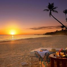 wonderful and awesome sunset on the beach