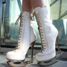 Ice Skate Heels... Crazy <3