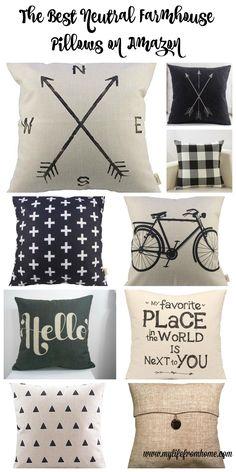 The best farmhouse style pillows from Amazon- all under $15- decor- farmhouse style- throw pillows- diy- decorating- neutral- neutral decor