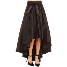 Gracia Hi Low Shine Skirt in Black and other apparel, accessories and trends. Browse and shop related looks.