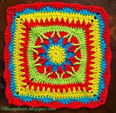 My places: Starburst #Square: The 2015 Moogly #Afghan Crochet-Along: Block #2