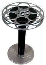 Fun movie reel end table . . . perfect for Connor's bdrm.
