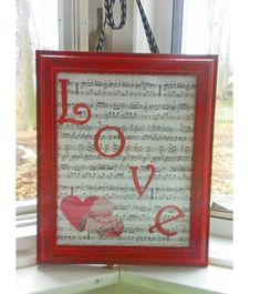 Valentine's Day Crafts: Upcycled Photo frame. Cost less than 5 bucks to make!