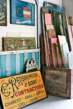 Brian Laurich, Antique Wooden Sign Maker - Country Living ~ more inspiration