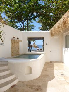 Jalousie Plantation private personal pool in your room with the view of the ocean. Small Backyard Pools, Backyard Pool Designs, Small Pools, Small Indoor Pool, Small Pool Design, Mini Pool, Plunge Pool, Garden Pool, In Ground Pools