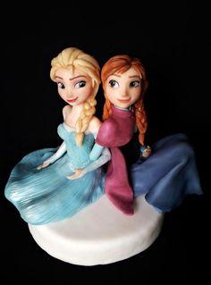 Elsa and Anna - Cake by giada