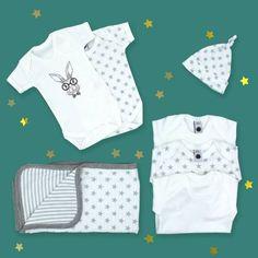 Newborn Baby Clothes Starter Gift Set - Stars UK Unisex Baby Gifts, Newborn Baby Gifts, Baby Outfits Newborn, Baby Girl Gifts, Baby Boy Gift Baskets, Baby Gift Hampers, Baby Hamper, Baby Girl Presents, New Baby Girls