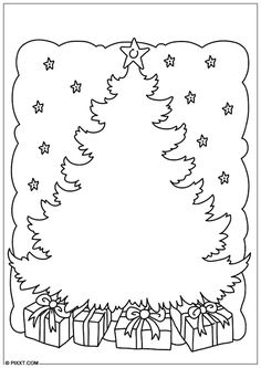 Coloring page Christmas tree Coloring page Christmas tree Paper Christmas Decorations, Christmas Tree Toppers, Diy Christmas Ornaments, Christmas Crafts For Toddlers, Toddler Christmas, Colorful Christmas Tree, Christmas Colors, Free Printable Coloring Pages, Coloring Pages For Kids