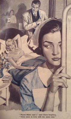 'Calling Doctor Kent' - Woman's Own Story Illustration by Kenneth Kirkland 1956