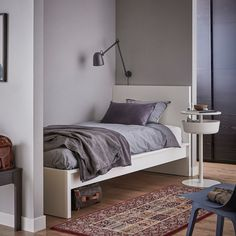 MALM Bed frame, high, white, Twin - IKEA Cama Malm Ikea, Bed Storage, Storage Spaces, Record Storage, Bedroom Furniture, Home Furniture, Outdoor Furniture, Malm Bed Frame, Ikea Family